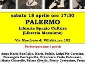 """Sabato aprile Palermo reading poetico onore """"Grandi dimenticati"""""""