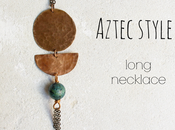 long Aztec necklace gold bronze Style tips