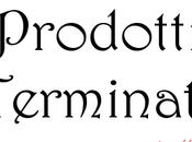 Rubrica: Prodotti Terminati