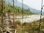Arunachal Pradesh strada sulla montagna
