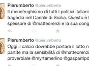L'insensibilità @matteorenzi proverbiale. Lutto nazionale europeo.