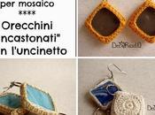 """Riciclo tessere vetro mosaico: orecchini """"incastonati"""" l'unicnetto"""