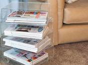 Pillole plexiglass: tavolino portariviste plexiglass trasparente