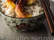 Riso allo zenzero gamberi glassati Ginger rice glazed shrimp