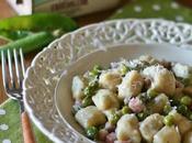 Gnocchi pastinaca piselli pancetta Parsnip gnocchi with peas