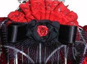 """Scialle crochet """"Flamenco"""" fermaglio...Rosso, nero tanta luce!"""