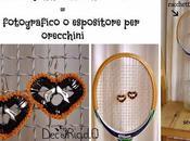 Vecchia Racchetta Tennis Fotografico Espositore Orecchini