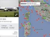 Vedere Seguire rotte voli aerei tempo reale Google Maps