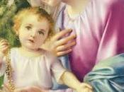 Schema punto croce: Madonna Bambino Rosario