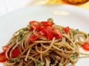 pesto:spaghetti integrali pesto friggitelli