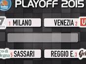 Playoff, quarti: Sassari fuori Trento, Milano, Venezia Reggio Emilia