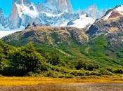 Montañas nevadas Patagonia, Argentina.