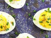 Antipasto uova sode Appetizer with hard-boiled eggs