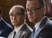 Hanks James Donovan, Mark Rylance Rudolf Abel Billy Magnusson Douglas Forrester BRIDGE SPIES, dramatic thriller directed Steven Spielberg.