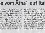 """quotidiano tedesco """"Der Patriot"""" (http://www.derpatriot.de) recensisce """"Neve dall'Etna. racconti siciliani Thomas Valentin"""" (Ediz. italiana tedesca) della nostra Cristina Sanfratello (Ed. Zisa)."""