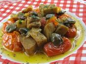 Spezzatino seitan pomodorini capperi Stew with tomatoes capers