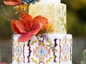 Boho Chic Wedding Cake