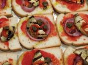 Pizza pancarrè avec pain blanc with white bread