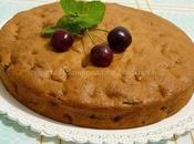Torta alla vaniglia ciliegie senza grassi latte