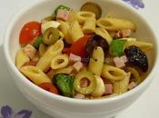 Insalata pasta fredda olive, pomodorini, prosciutto mozzarelline