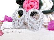 Orecchini bijoux fashion eleganti pendenti realizzati uncinetto!