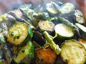 Contorno asparagi zucchine arrostiti