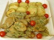 Foglie salvia fettine zucchina, pastella...
