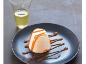 Panna cotta matcha aggiunta vaniglia caramello