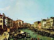 Un'opera d'arte mese Canal Grande verso ponte Rialto
