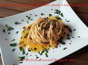 Spaghetti pesto pomodori secchi colatura alici
