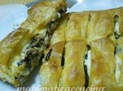 Strudel Salato Pasta Sfoglia Melanzane Fiocchi Ricotta