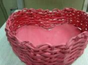 Come fare cesta forma cuore carta riciclata