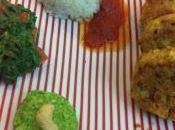 Polpette mediterranee cavolfiore pesto rucola mojo verde