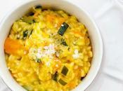 Risotto zucchine, zucca zafferano with zucchini, pumpkin saffron