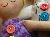 Tutorial bambole stoffa feltro cartamodello