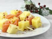 Spiedini ananas salmone