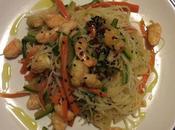 Vermicelli riso verdure code mazzancolle