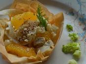 Carpaccio finocchi, arancia nocciole salsa tahin