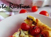 Torta rustica ricotta, melanzane pomodorini