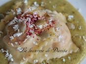Ravioli zucca crema burrata pistacchio