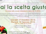 scelta giusta, ultimo incontro orientamento scolastico Modena