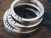 Anelli personalizzati date importanti parole d'amore