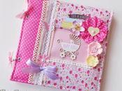 Album foto Bimba Copertina Stoffa Fabric Cover Baby girl photoalbum