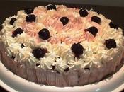Torta Romantica Bianca Rosa alle Amarene Valentino (senza coloranti)