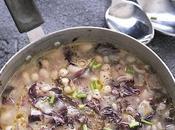 Zuppa fagioli, orzo, radicchio rosso