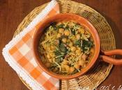 Zuppa ceci spinaci