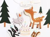 Birthday woods {paper illustration}