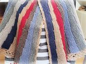 """Mantellina della nonna ferri: versione """"multicolor"""""""