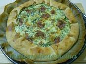 Torta Salata Broccoli, Ricotta Salame
