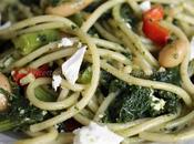 Spaghetti cavolo nero, fagioli quartirolo